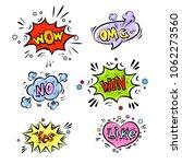 retro comic speech bubbles set...   Shutterstock .eps vector #1062273560
