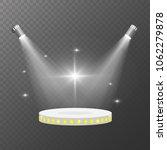 spot lights vector. pedestal... | Shutterstock .eps vector #1062279878