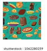 delicacy with chocolate and... | Shutterstock .eps vector #1062280259