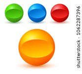 set of colored glossy spheres... | Shutterstock .eps vector #1062287396