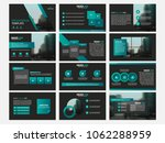 green presentation template.... | Shutterstock .eps vector #1062288959