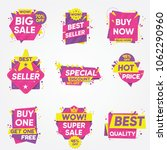 set of sale sticker. best... | Shutterstock .eps vector #1062290960