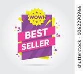 best seller . sale banners... | Shutterstock .eps vector #1062290966