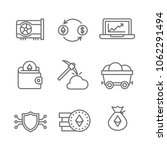 ethereum icons. cryptocurrency | Shutterstock .eps vector #1062291494