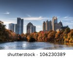 Skyline and reflections of...