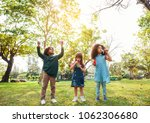 group of children playing... | Shutterstock . vector #1062306680