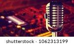 microphone in studio at...   Shutterstock . vector #1062313199