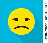 depressed emoticon icon. flat... | Shutterstock .eps vector #1062313730