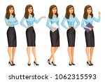 woman in business style with... | Shutterstock .eps vector #1062315593