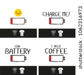 low battery vector funny title... | Shutterstock .eps vector #1062316973