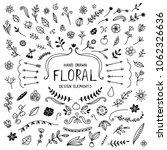 hand drawn doodle vintage... | Shutterstock .eps vector #1062326636