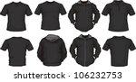 vector set of men's shirts... | Shutterstock .eps vector #106232753