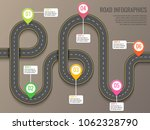 infographics template with road ... | Shutterstock .eps vector #1062328790