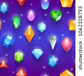 seamless colorful gemstones... | Shutterstock .eps vector #1062328793