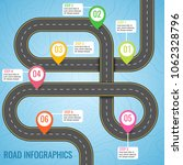infographics template with road ... | Shutterstock .eps vector #1062328796