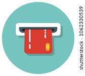 atm card flat style vector icon ...