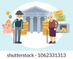 happy senior old people saving...   Shutterstock . vector #1062331313
