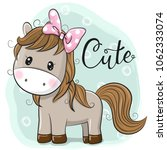 cute horse girl isolated on a... | Shutterstock .eps vector #1062333074