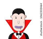 vampire face. cartoon vampire... | Shutterstock .eps vector #1062333464