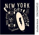 skateboard vector print.new... | Shutterstock .eps vector #1062344510