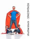 super dad standing with hands... | Shutterstock . vector #1062345626