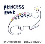 sweet dinosaur. hand drawing... | Shutterstock .eps vector #1062348290
