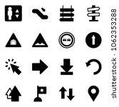 solid vector icon set  ... | Shutterstock .eps vector #1062353288