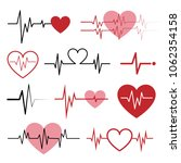 set of cardiogram icons...   Shutterstock .eps vector #1062354158