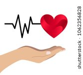 red heart with cardio wave and...   Shutterstock .eps vector #1062356828