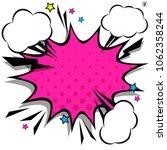 retro comic design speech... | Shutterstock .eps vector #1062358244