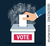 voting concept in flat style  ...   Shutterstock .eps vector #1062362030