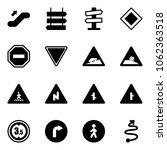solid vector icon set  ... | Shutterstock .eps vector #1062363518