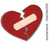 the broken heart is glued... | Shutterstock .eps vector #1062366920