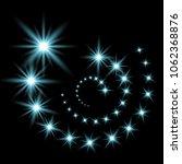 glittering flying stars with...   Shutterstock .eps vector #1062368876