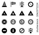 solid vector icon set   road... | Shutterstock .eps vector #1062372224