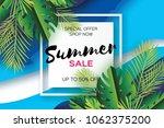 trendy summer sale template... | Shutterstock . vector #1062375200