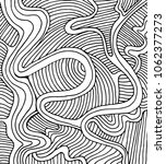 coloring page doodle wave... | Shutterstock .eps vector #1062377273