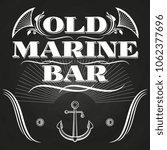 old marine bar label or banner... | Shutterstock . vector #1062377696