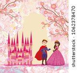 the princess and the prince  ... | Shutterstock . vector #1062378470