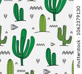 hand drawn tropical cactus... | Shutterstock .eps vector #1062379130