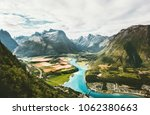 landscape mountains valley and... | Shutterstock . vector #1062380663