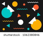 retro geometric shape. abstract ... | Shutterstock .eps vector #1062380846