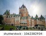 quebec city  quebec  canada ... | Shutterstock . vector #1062382934