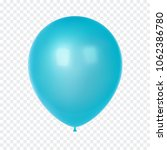 3d realistic colorful balloon.... | Shutterstock .eps vector #1062386780