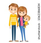 family with baby son   Shutterstock .eps vector #1062386834