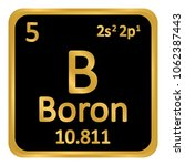 periodic table element boron... | Shutterstock .eps vector #1062387443
