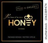 honey and bee logo vector... | Shutterstock .eps vector #1062389474