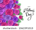 happy mother's day greeting... | Shutterstock .eps vector #1062391013