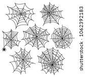 halloween spider web set.... | Shutterstock . vector #1062392183