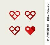 Vector Set Of Infinite Heart...